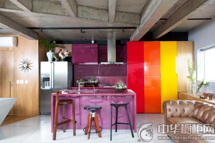 紫色橱柜效果图 紫色橱柜图片