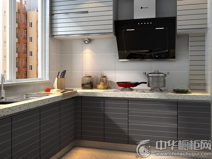 L型厨房装修效果图 L型橱柜设计效果图