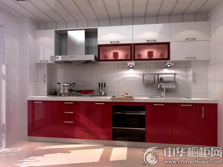 红色烤漆橱柜效果图 红色橱柜图片