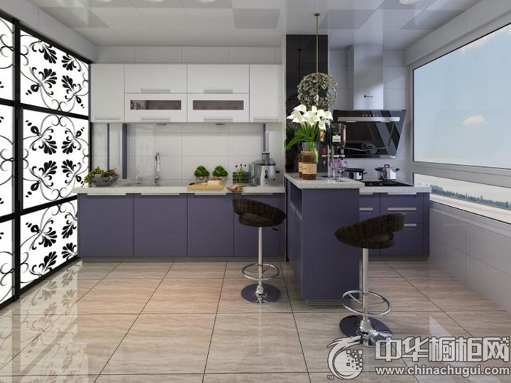 紫色系橱柜图片 紫色橱柜图片