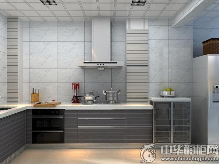 灰色橱柜效果图 灰色系橱柜图片