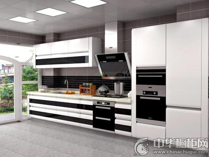 一字型厨房装修效果图 一字型厨房装修图片