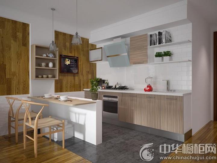 一字型厨房设计图一字型橱柜图片