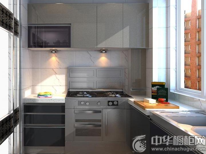 灰色系橱柜效果图 灰色系厨房图片