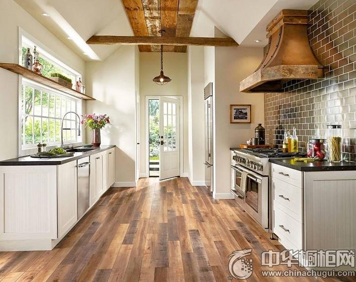 欧式橱柜效果图 欧式风情厨房图片