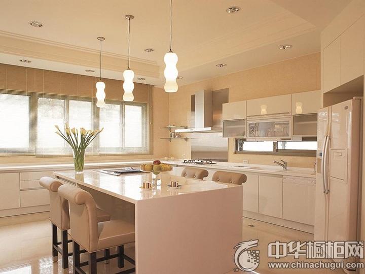 开放式厨房效果图 开放式厨房橱柜图片
