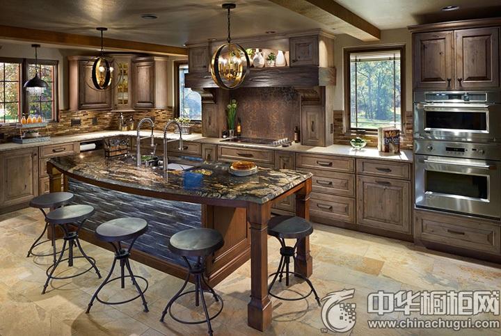 田园风格厨房效果图 田园风格厨房装修效果图