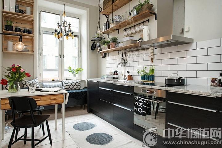一字型橱柜装修效果图 一字型厨房效果图