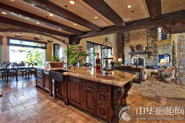 新古典厨房装修效果图 新古典风格橱柜设计图