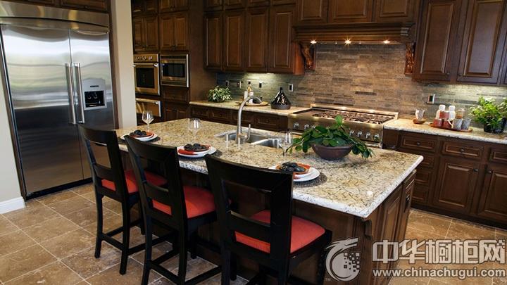 古典风格整体厨房效果图 古典风橱柜图片