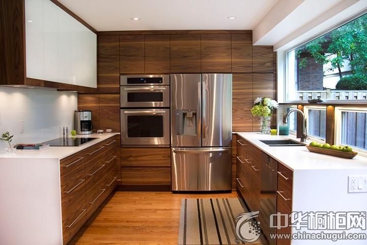 木质橱柜效果图 实木橱柜图片