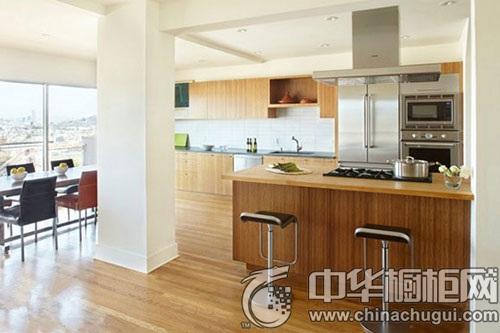 大户型厨房装修效果图图 布局合理美观的厨房设计