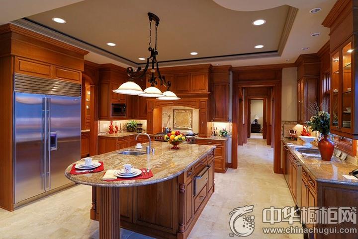 古典风格厨房图片 新古典橱柜效果图