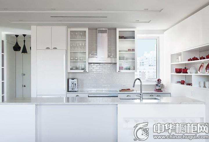 白色橱柜效果图 白色系厨房效果图
