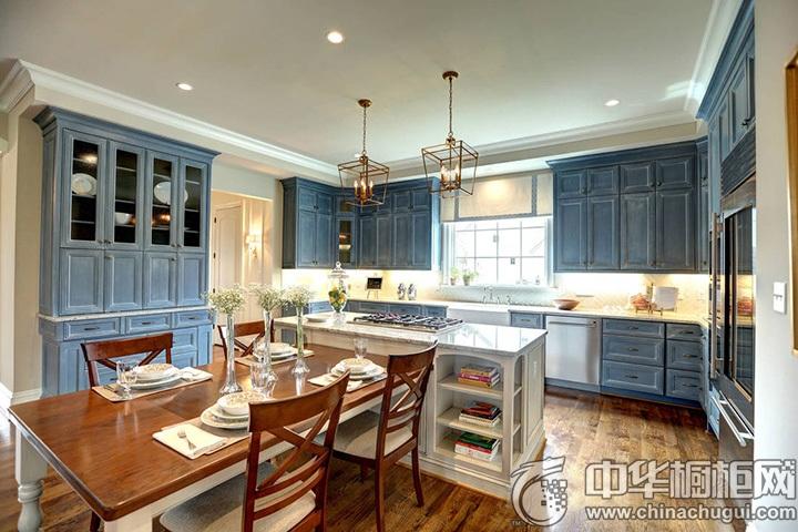 欧式厨房装修效果图 欧式厨房橱柜效果图