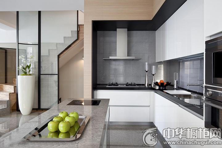 简约风格厨房效果图 时尚简约风格橱柜图片
