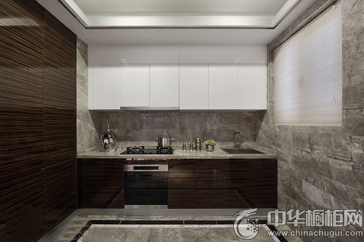 一字型橱柜设计图 一字型厨房装修图片
