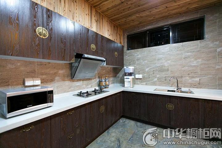 新中式厨房装修效果图 中式橱柜效果图