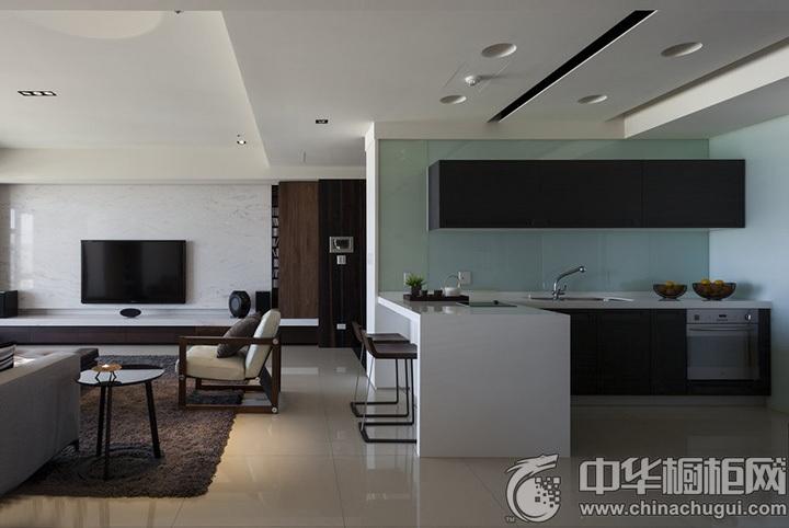L型厨房装修效果图 L型橱柜设计图片