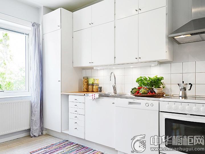 一字型橱柜效果图 一字型厨房装修图片
