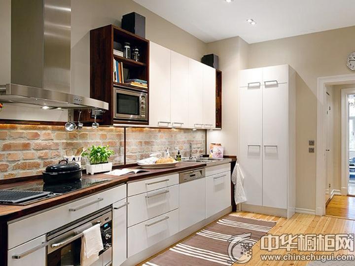 一字型厨房效果图 一字型橱柜设计图