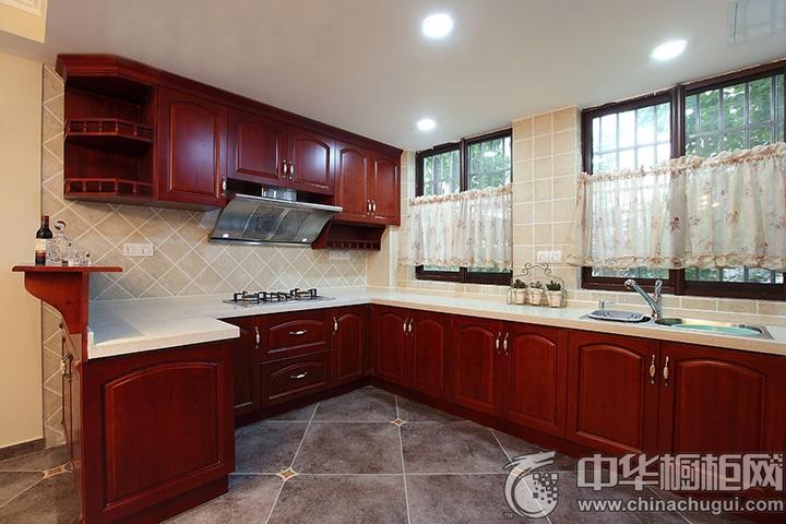 新中式厨房装修效果图 中式橱柜装修效果图