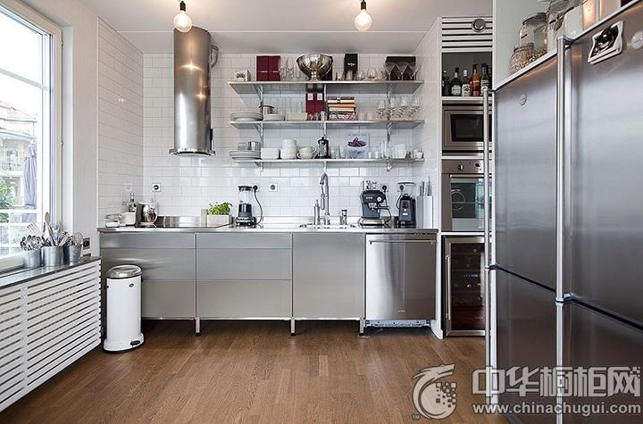 工业风橱柜效果图 工业风厨房图片