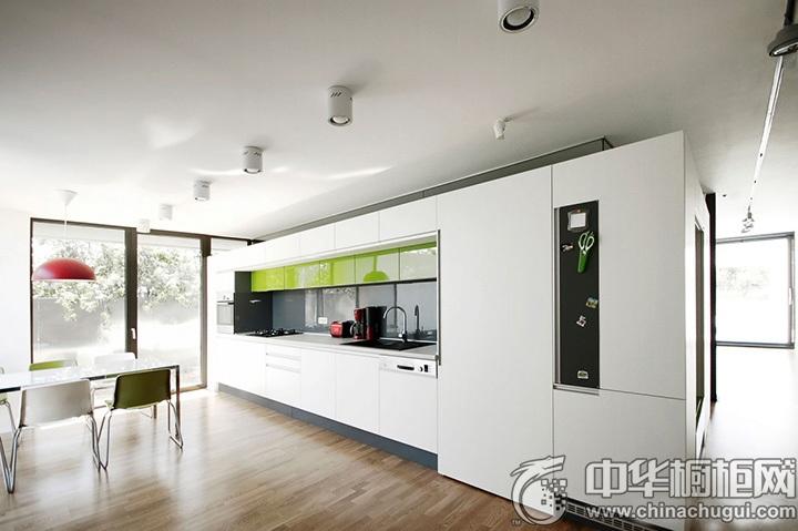 一字型厨房效果图 一字型厨房装修图片