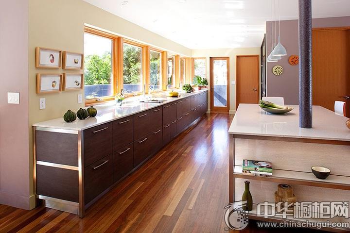 一字型橱柜效果图 一字型厨房效果图
