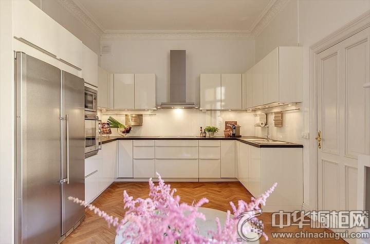 U型厨房效果图 U型橱柜设计效果图