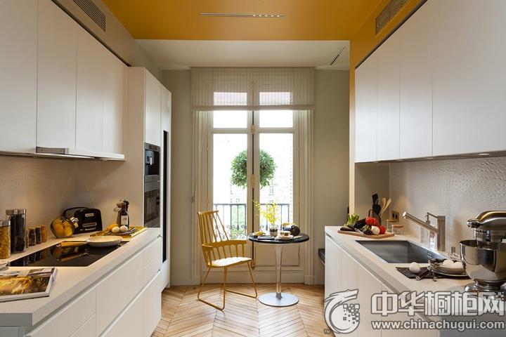 现代简约橱柜效果图 简约风格厨房装修设计图