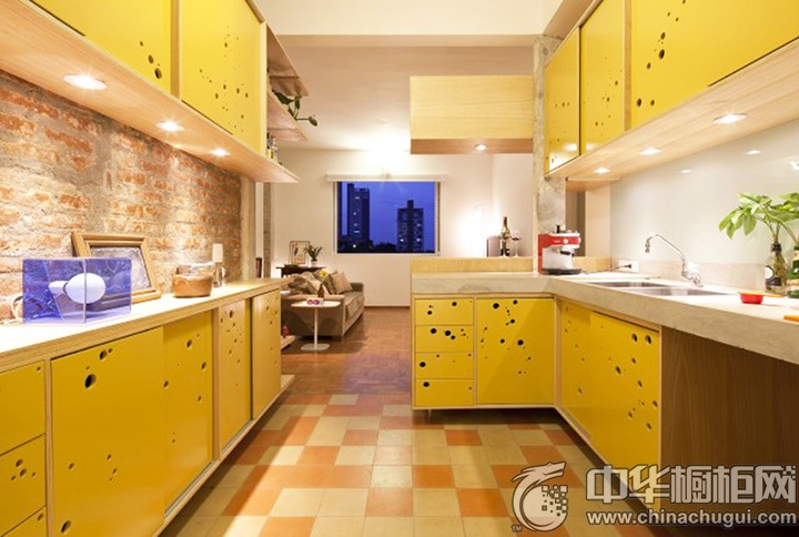 黄色橱柜图片 黄色系橱柜图片