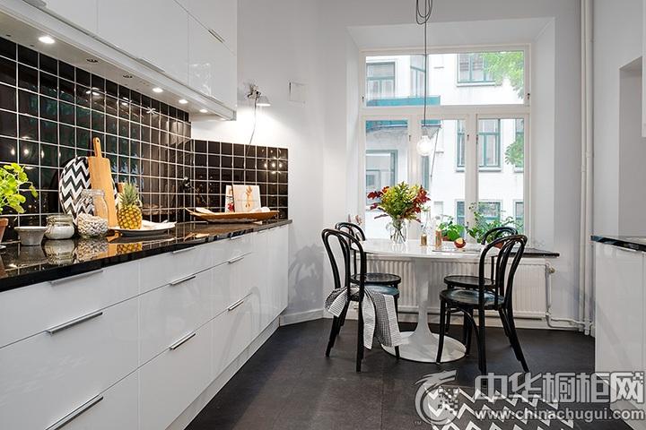 一字型厨房装修图片 一字型整体橱柜图片