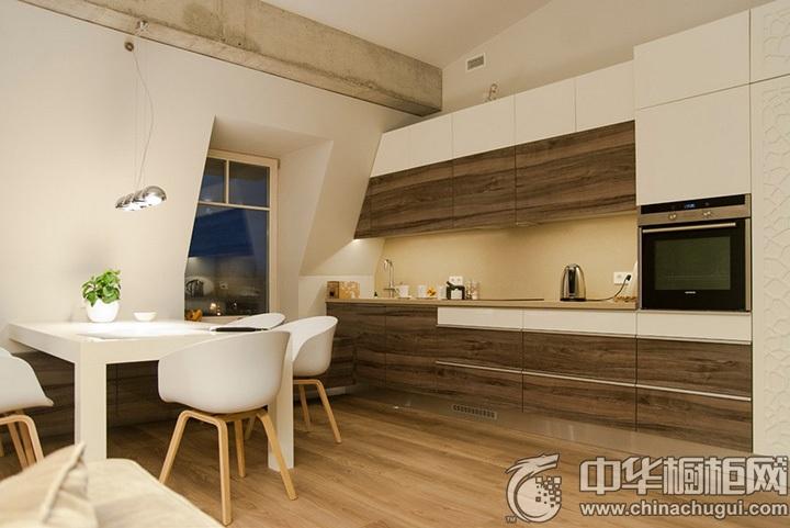 一字型厨房装修效果图 一字型整体橱柜图片