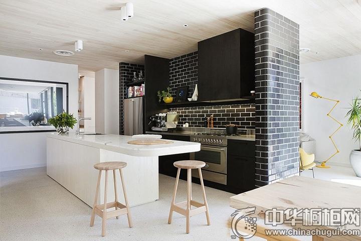 简约风格厨房设计效果图 现代简约整体橱柜设计图片