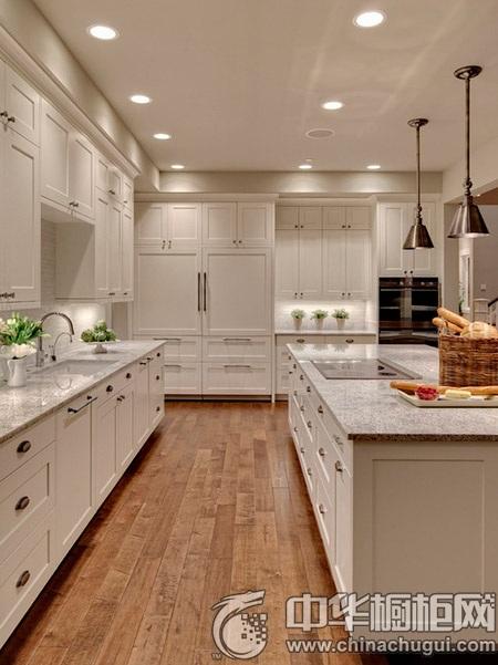 实用开放式厨房装修 厨房中岛吧台设计欣赏_中华橱柜网