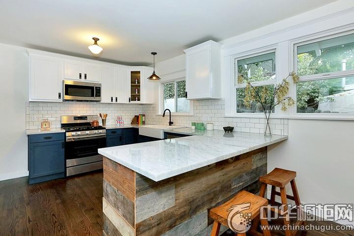 U型厨房设计图 U型橱柜图片