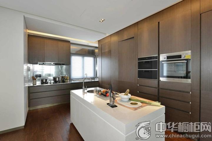 现代简约橱柜效果图 简约风格开放式厨房图片