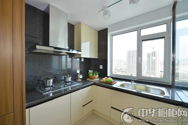 L型厨房效果图 L型厨房图片