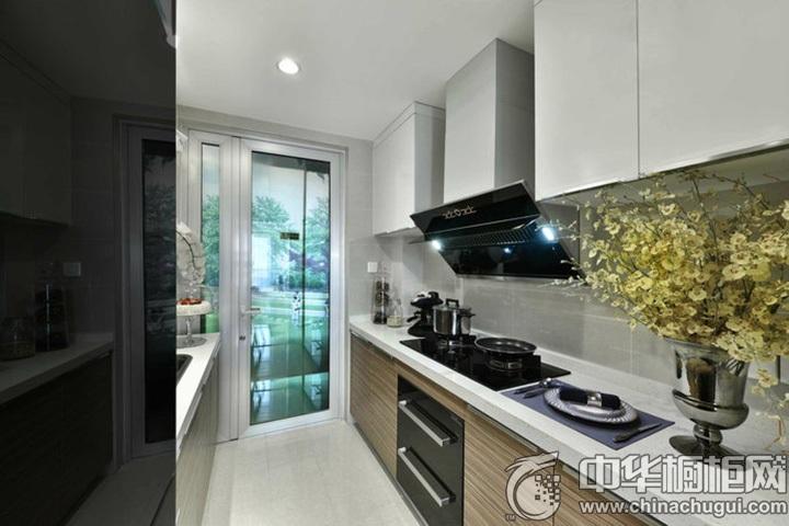 一字型橱柜设计图片 一字型厨房装修图片