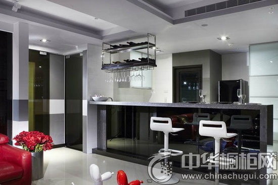 小厨房吧台装修效果图 感受厨房闲暇时光