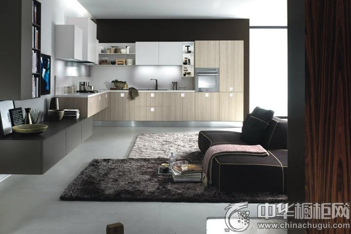 现代简约橱柜效果图 简约风格厨房设计图