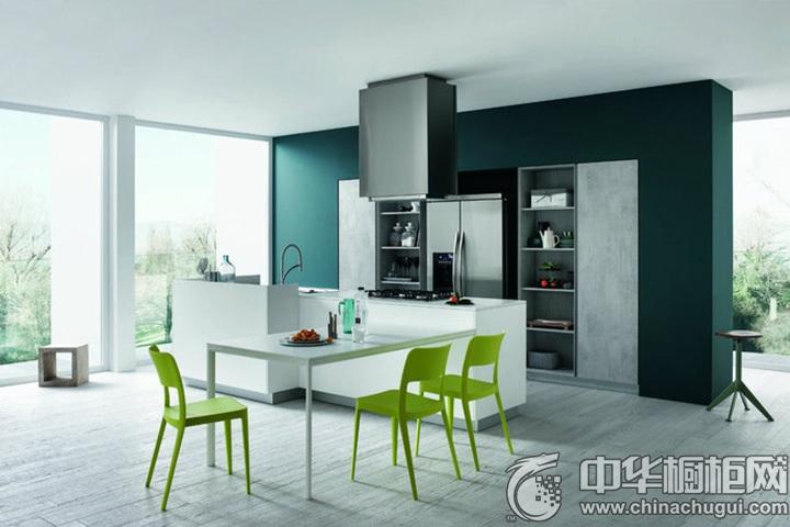 一字型厨房装修图片 一字型简约橱柜图片
