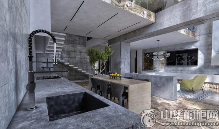 厨房吧台装修效果图 厨房装潢效果图