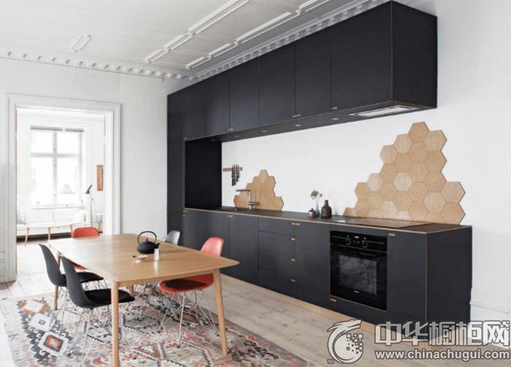 一字型厨房装修效果图 一字型厨房设计图