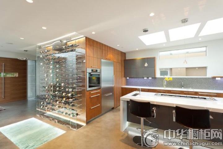简约开放式厨房装修效果图 简约风格整体橱柜装修图片
