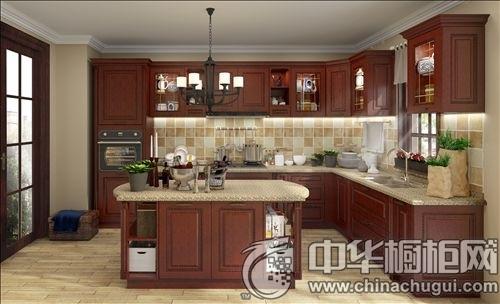 时尚厨房装修案例 开放式整体橱柜推荐