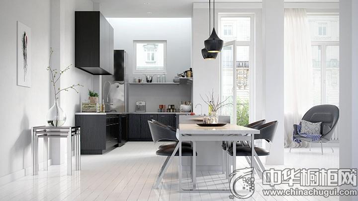 开放式厨房效果图 厨房整体橱柜效果图
