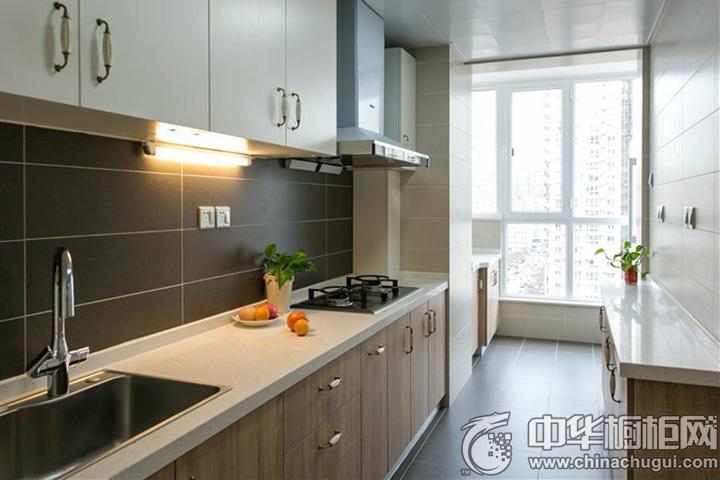 一字型厨房装修效果图 一字型厨房效果图