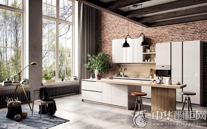 现代简约橱柜效果图 开放式厨房装修